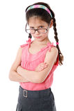 Serious little girl in glasses Royalty Free Stock Photos
