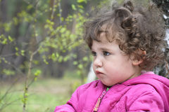 Serious little girl. Stock Images