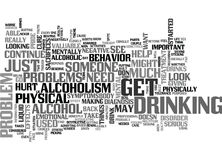 A Serious Look At Alcoholism Symptoms May Be Needed Word Cloud. A SERIOUS LOOK AT ALCOHOLISM SYMPTOMS MAY BE NEEDED TEXT WORD CLOUD CONCEPT Stock Photography