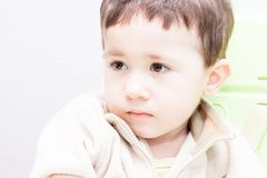 Serious look of child Stock Photo