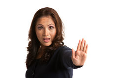 Serious Looking Asian Female Says No Isolated Royalty Free Stock Images