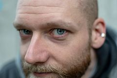 A man stares at the camera royalty free stock photos