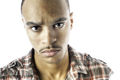 Serious looking black male Royalty Free Stock Photo