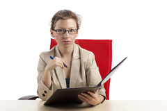 Serious looking businesswoman Stock Photo
