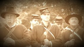 Serious looking Civil War soldiers (Archive Footage Version). View of Serious looking Civil War soldiers (Archive Footage Version stock video