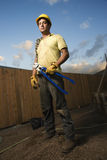 Serious Looking Construction Worker Stock Image