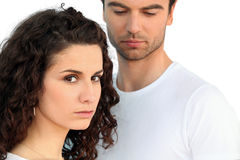 Serious looking couple Royalty Free Stock Photos