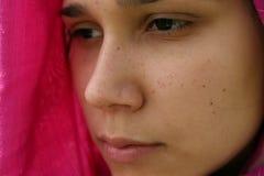 Serious looking muslim woman stock photo