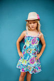 Serious looking young girl Stock Photo