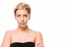 Serious looking young woman Royalty Free Stock Photos