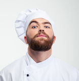 Serious male chef cook looking at camera Stock Photography