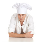 Serious male cook Royalty Free Stock Photography