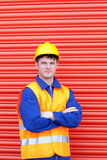 Serious male engineer standing Royalty Free Stock Photo