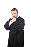 Serious male judge Stock Photography