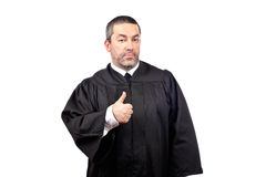 Serious male judge Stock Photo