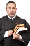 Serious male judge stock images