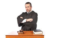 Serious male judge royalty free stock photo