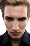 Serious male model with makeup Royalty Free Stock Image