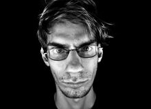Serious Male With Glasses Royalty Free Stock Images