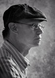Serious man. Portrait of a man wearing a hat Royalty Free Stock Photo
