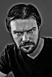 Serious man with beard. Monochrome portrait of serious man with beard Royalty Free Stock Photos