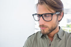 Serious man in creative office Stock Photo