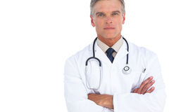 Serious man doctor with arms crossed Stock Photo