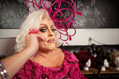 Serious Man in Drag Stock Photo