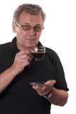 Serious man drinking coffee Royalty Free Stock Image