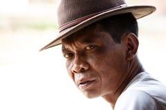 Serious Man in Falam, Myanmar (Burma) Royalty Free Stock Photo