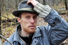 Serious man in the hat Royalty Free Stock Photo