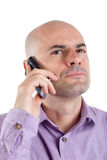 Serious man on the phone Royalty Free Stock Image