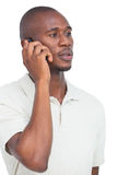 Serious man on the phone Stock Photography