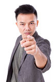 Serious man pointing at you Royalty Free Stock Photography
