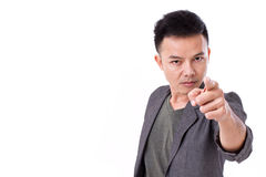 Serious man pointing at you Royalty Free Stock Images