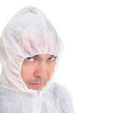 Serious man in protective uniform close up Stock Photography