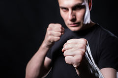 Serious man ready to fight Royalty Free Stock Photography