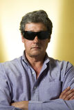 Serious man in sunglasses Royalty Free Stock Photo