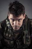 Serious man in uniform Stock Photography