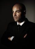 Serious man wearing suit Stock Image
