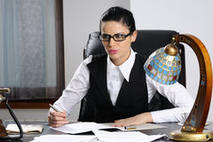 Serious manager Stock Photography