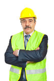 Serious mature architect man Royalty Free Stock Image