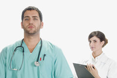 Serious Medical Professionals Stock Image