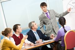 Serious meeting Royalty Free Stock Photo