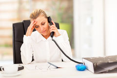 Serious middle aged businesswoman Royalty Free Stock Images