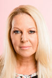 serious woman portrait pink background real people high definition royalty free stock photography