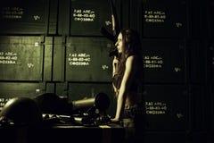 Serious military girl Royalty Free Stock Photo