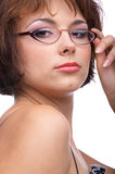 Serious model in glasses Stock Photography