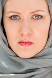 Serious moslem woman close-up portrait Royalty Free Stock Image