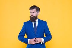Serious motivated entrepreneur. Business people. Challenge everything. Confident businessman handsome bearded man in. Formal suit. Businessman concept royalty free stock photography
